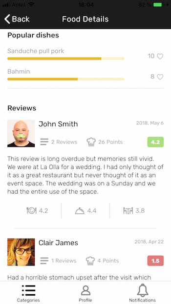 ionic restaurant app