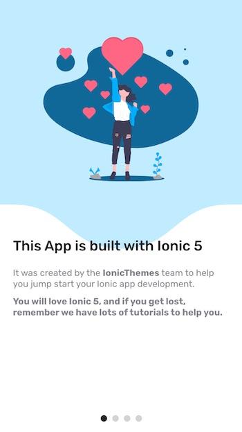 Ionic walkthrough