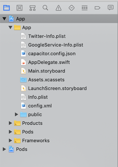 Xcode config files