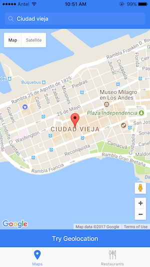 Ionic Maps Example App
