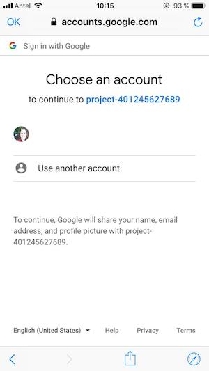 Ionic google login
