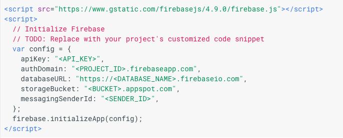 firebase app setup