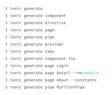 ionic add page