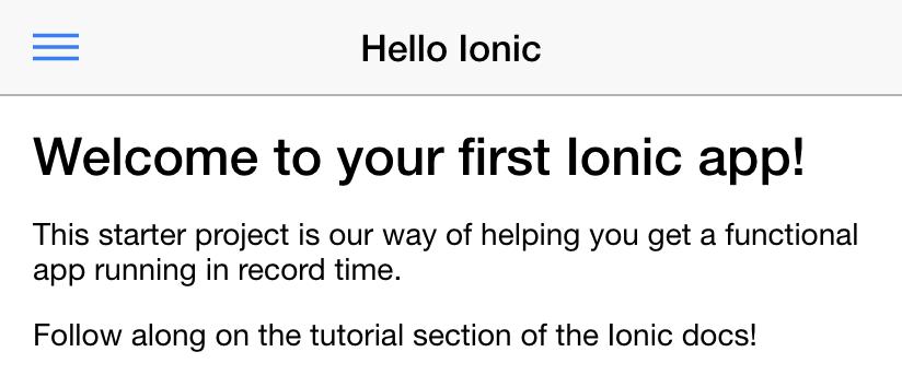 create ionic app