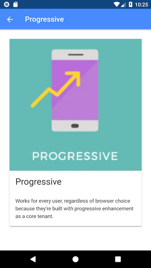 Ionic PWA example app